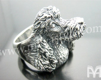 Sterling Silver Poodle Ring