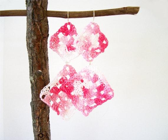 One Stitch Designs Free Crochet Pattern Long Granny Dangle Earrings