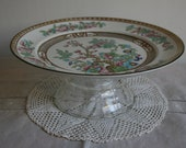 Indian Tree oriental design with gold trim cake stand