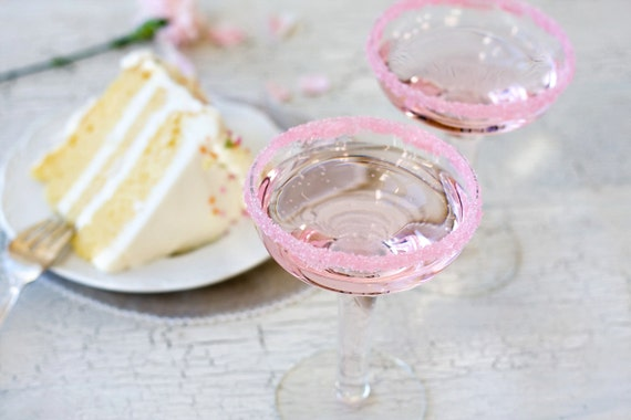 Wedding Cake flavored rim sugar - cocktail rimming sugar - pink colored sugar that makes your signature drink delicious - recipes included