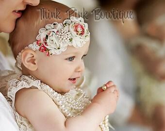 SALE! Ivory Lace romper, petti romper, petti lace romper, lace rompers, Baby girl outfit, Ruffle romper, Christening outfit,baby lace romper