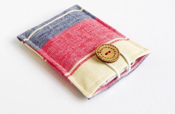 minimal pouch - Genius Dutch vintage cotton - 1 extra pocket on the back