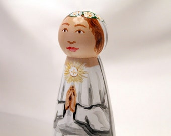 Blessed Imelda Lambertini - Catholic Saint Wooden Peg Doll Toy - made to order