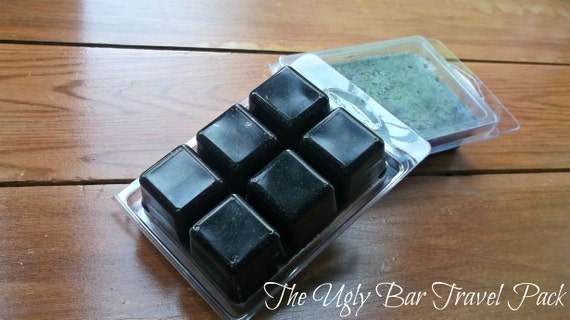 Travel Cubes of The Ugly Bar   SLS FREE Acne and clear complexion bar. 100% organic essential oil   3.5oz