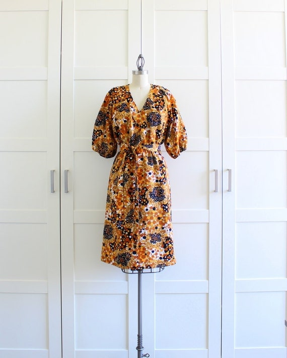 Vintage Dress, Mustard Yellow Atomic Wiggle Dress 50s 60s Dress, Joan Mad Men Dress, size Large XL