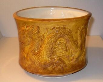 Large Chinese Dragon Planter /  Ceramic Dragon Planter