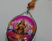 Lakshmi and Amber Earrings Lightweight Belly Dance Jewelry