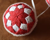 Christmas Red and Ivory Star Ornament