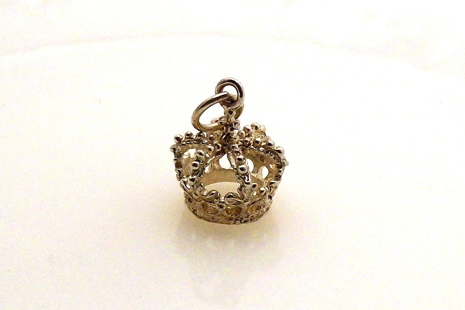 vintage sterling silver crown pendant or by