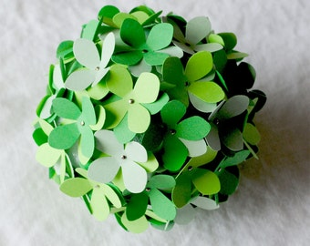 SALE: Paper Hydrangea - 3.5 inch Orb in green or pink