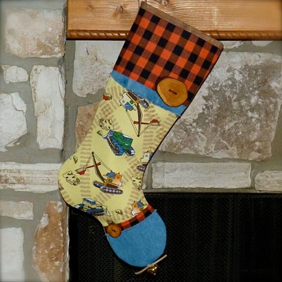 Big Boy Toys For Christmas : Bulldozer stocking boys christmas by