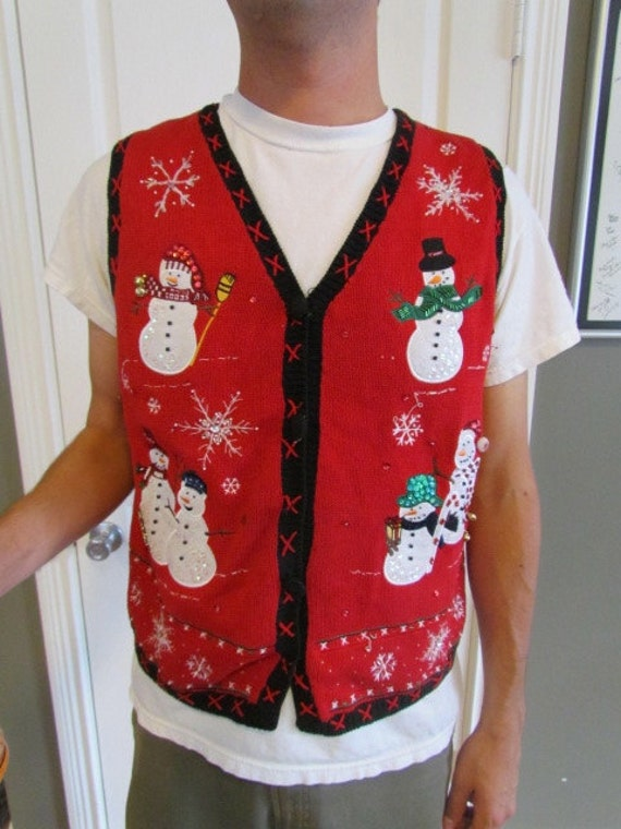 Ugly Christmas Sweater Vest, SIZE LARGE