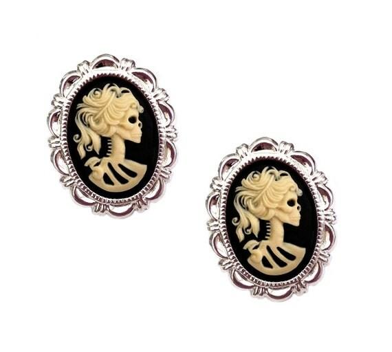 Skeleton Earrings - Lolita Halloween Jewelry