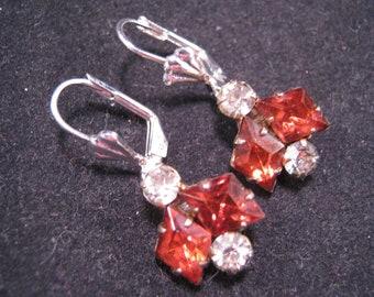 Reclaimed Vintage Earrings, Vintage Rhinestone Earrings, Bridesmaid Gift, Wedding Earrings, Under 20 - Chameleon