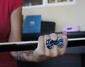 Olivia Paige - Pin up Bow bandana Rockabilly ring