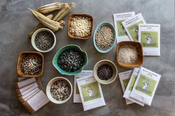 Twenty Packets of Heirloom Seeds - Free Shipping