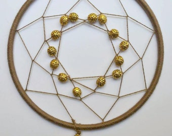 Gold and Brown Glass Prism Dream Catcher