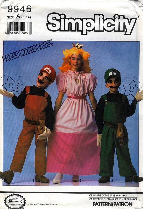 Simplicity 9946 Super Mario Bros Boys And Girls