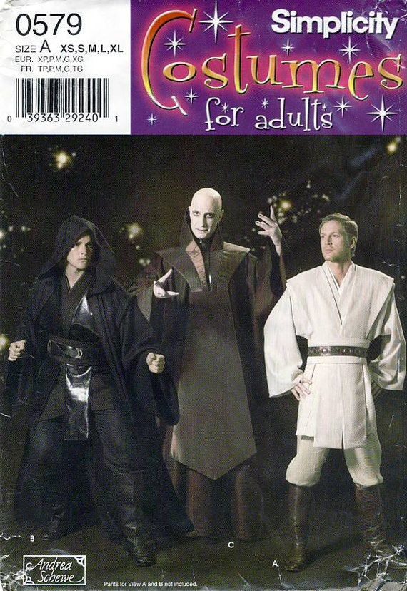 Anakin Skywalker, Jedi tunic and cloak pattern - Simplicity 4450/0579