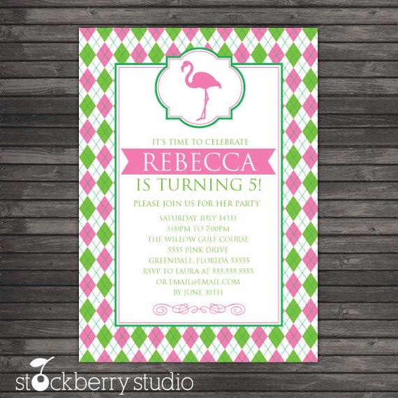 Flamingo Birthday Invitation Printable - Pink Flamingo Birthday Party - Flamingo Invitation - Pink Flamingo Party - Flamingo baby shower
