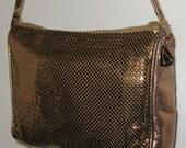 Vintage Whiting & Davis Copper/Bronze Mesh Shoulder Bag