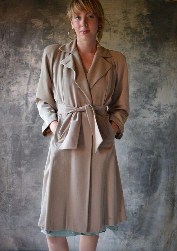 1940s wool trench coat