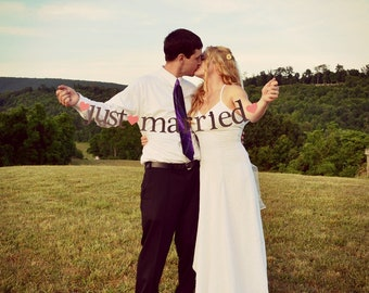 just married AND mr & mrs Banners.  Ships Priority.  2 Banners.  Wedding Decorations.  Bridal Shower Decorations.  5280 Bliss.