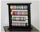 Large Painted Ribbon Organizer Rack / Ribbon Storage - holds 100 spools - choose your paint color