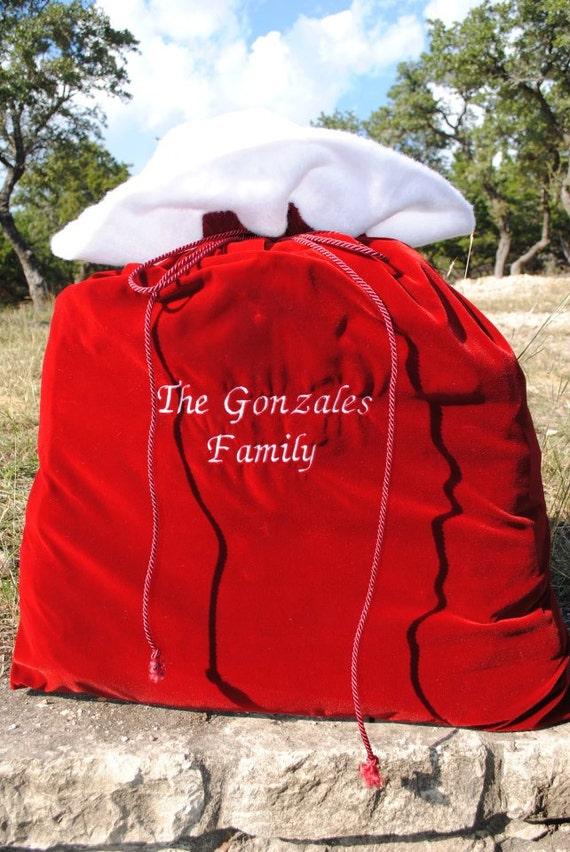 how to make a santa bag