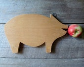 Wooden Cutting Board Pig