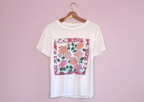 90's Vintage Roses T-Shirt