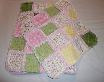 Rag Quilt 2 Piece Set - Baby Girl