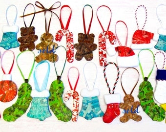 Recycled Magazine Ornaments: Choose 2 Christmas Ornaments Made from Recycled Magazines