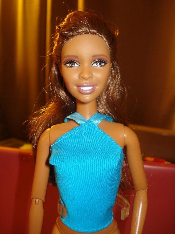 SALE - Barbie Doll Separates -  Halter top in bright blue turquoise - es22