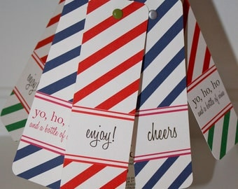 Striped Wine Tags