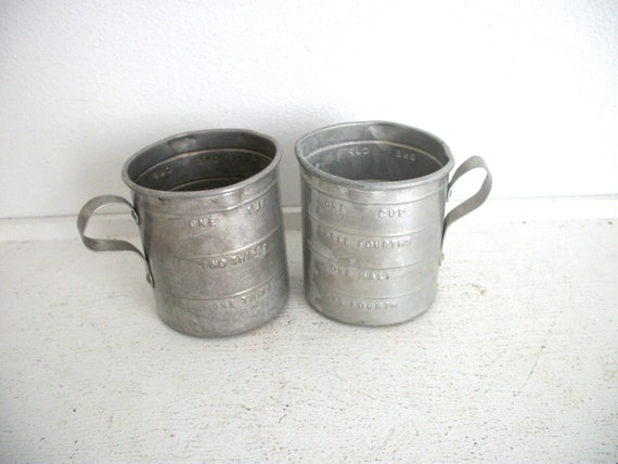 Two Little Vintage Measuring Cups