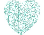 HEART - 8x10 Digital Print - Line Art