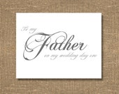 To My Father On My Wedding Day Eve Card