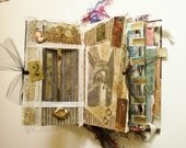 Altered Mixed Media Book Journal, Historical Art Imagery Going Back in Time