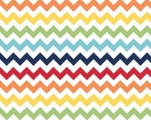 Riley Blake Fabric, Chevron in Rainbow- Small, 1 yard- In Stock Now