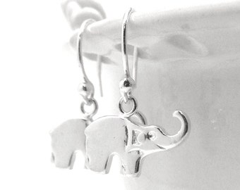 Elephant Earrings, Elephant Jewelry, Elephants, Sterling Silver Jewelry, Sterling Silver Elephant Earrings, Small Elephant Earrings