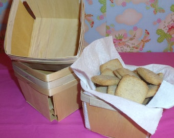 12 Pint Square Wood Berry Baskets