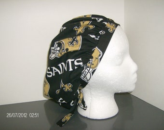 New Orleans Saints Bouffant Surgical Scrub Cap