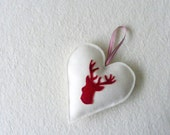 Deer heart ornament, hostess gift, door knob hanger, decoration