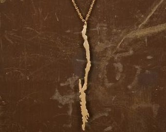 Lake George Necklace 14ky Gold