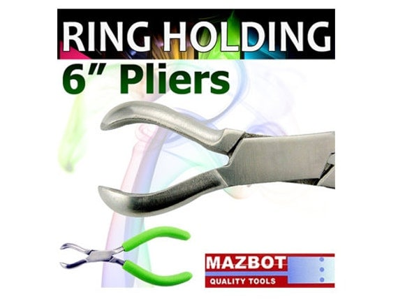 Mazbot 6in ring  HOLDING Pliers Forming Setting Jewelry Tool Beads Wirewrap RL04