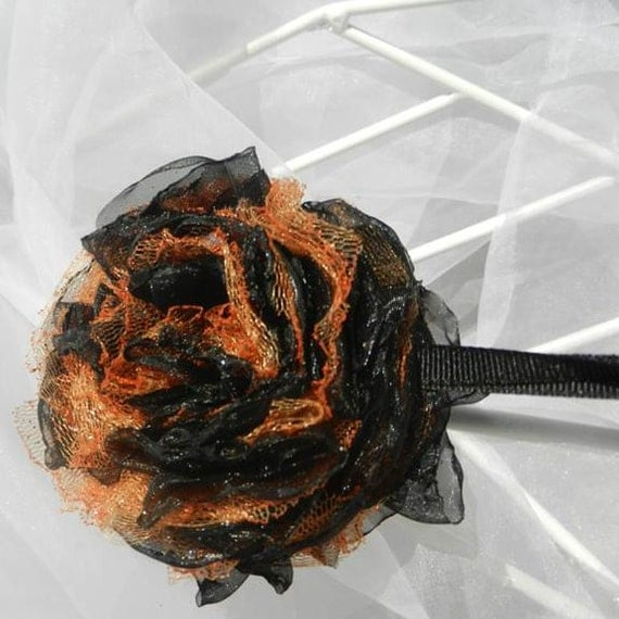 Black Orange Fower Hanging Ornament