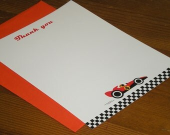 Race car Thank you notes - Set of 12