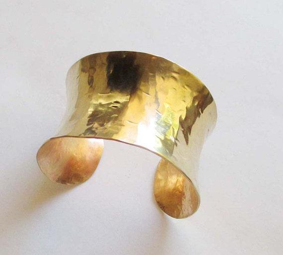 Gold Cuff Bracelet Modern Jewelry Hammered Brass Cuff Summer Sale Jewelry