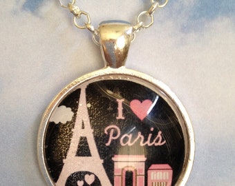 I Love Paris Pendant Necklace
